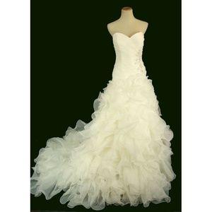 NEW Jovani Ivory Floral Bridal Wedding Women Gown